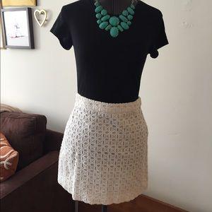 White Eyelet JCREW skirt